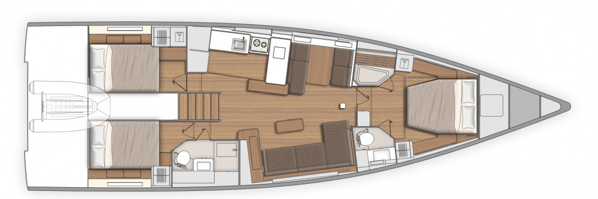Beneteau First Yacht 53 GA layouts 5