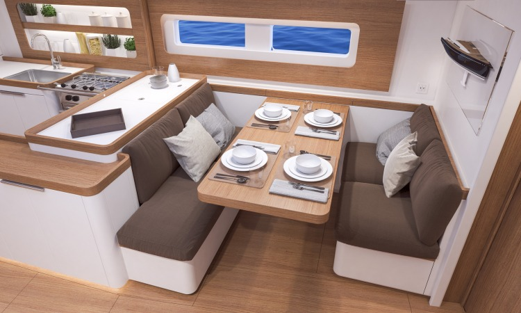 Beneteau First Yacht 53 Interior 2 saloon dining