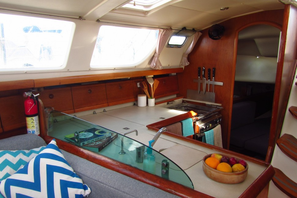 2. Galley looking aft