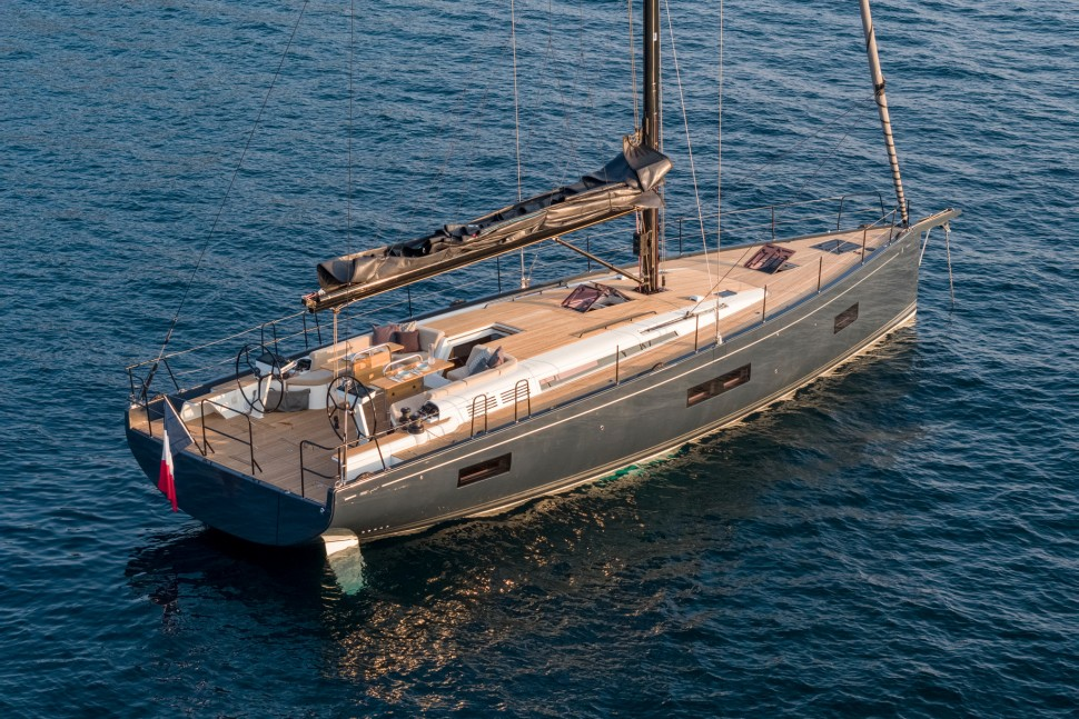 Beneteau First Yacht 53 ariel at anchor