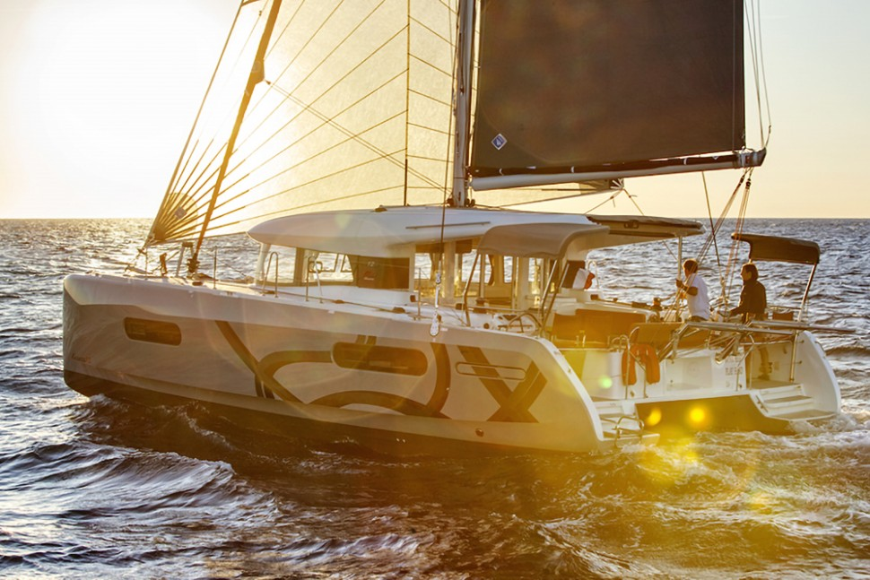 Excess 12 Catamaran sunset sail2
